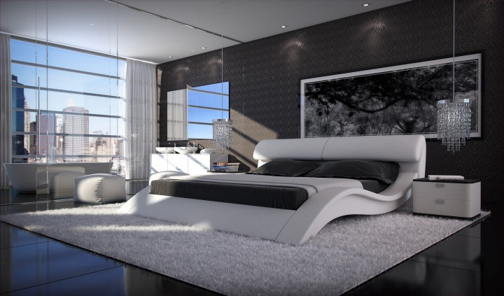 polsterbett allure 180x200 schwarz 180 x 200 cm. Black Bedroom Furniture Sets. Home Design Ideas