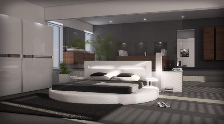 polsterbett sanctuary mit licht 180x200 schwarz 180 x. Black Bedroom Furniture Sets. Home Design Ideas