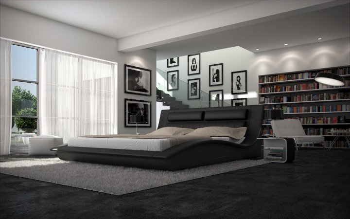 polsterbett escala 200x220 weiss 200 x 220 cm wasserbetten rahmen offizielle hersteller. Black Bedroom Furniture Sets. Home Design Ideas