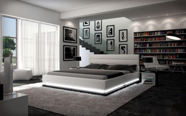 polsterbett ripani 200x220 weiss 200 x 220 cm wasserbetten rahmen offizielle hersteller. Black Bedroom Furniture Sets. Home Design Ideas