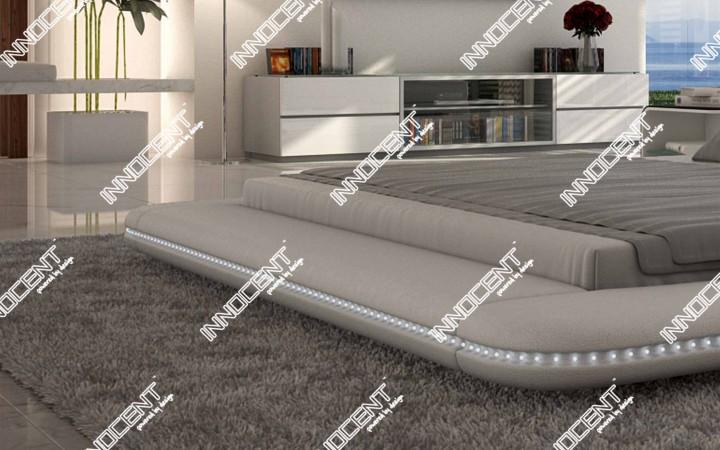 polsterbett custo mit led beleuchtung innocent mydesign offizielle hersteller website. Black Bedroom Furniture Sets. Home Design Ideas