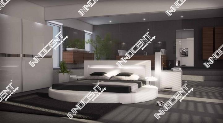 rundbett sanctuary mit licht innocent mydesign. Black Bedroom Furniture Sets. Home Design Ideas