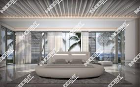 Rundbett RIVA mit Licht