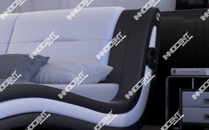 polsterbett trilium mit lautsprecher designerbetten. Black Bedroom Furniture Sets. Home Design Ideas