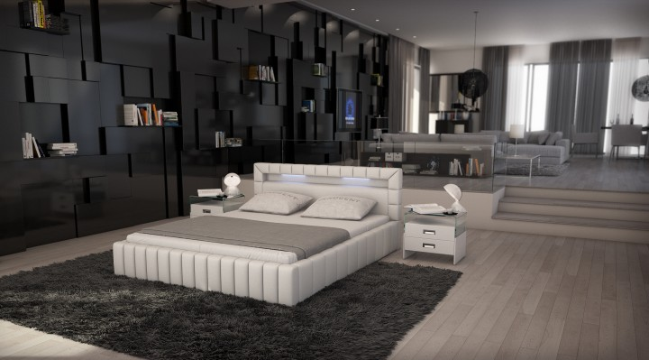 polsterbett medina mit licht newsda offizielle hersteller website innocent betten. Black Bedroom Furniture Sets. Home Design Ideas