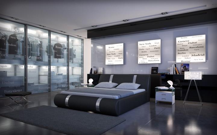 polsterbett face 200x220 weiss 200 x 220 cm. Black Bedroom Furniture Sets. Home Design Ideas
