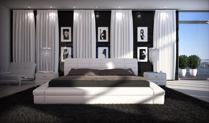 polsterbett purina 200x220 weiss 200 x 220 cm. Black Bedroom Furniture Sets. Home Design Ideas