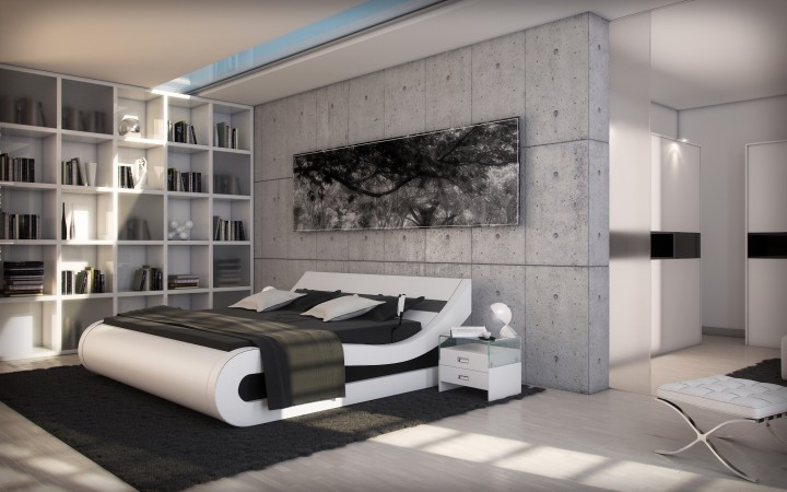 polsterbett kendo 200x220 weiss 200 x 220 cm wasserbetten rahmen offizielle hersteller. Black Bedroom Furniture Sets. Home Design Ideas